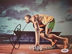 Usain Bolt Autographed 8x10 Photo, Framed, Psa Authentic