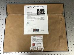 Vin Scully Autographed 11x14 Custom Framed Photo PSA/DNA Letter Of Authenticity