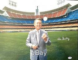 Vin Scully SIGNED LOS ANGELES DODGERS PHOTO SIGNED AUTOGRAPHED PSA DNA AUTHENTIC