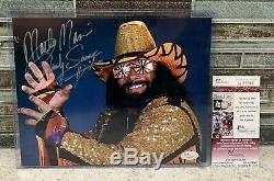 100% Jsa Authentique Autograph Wwe 8x10 Macho Man Randy Savage Autosigné