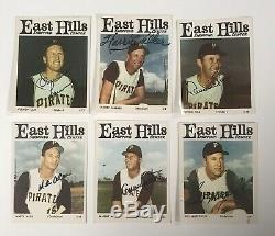 1966 East Hills Pirates Équipe 24 Cartes Signé Roberto Clemente Bas Autograph Auto