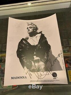 1987 Sire Records Herb Ritts Madonna Signé 8x10 Publicité Photo Jsa Authentique