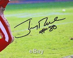 49ers Jerry Rice Authentique Signé Catch Horizontal 16x20 Photo Bas Témoin De