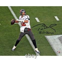 8x10 Authentique Tom Brady Autographié Photo De Super Bowl LV