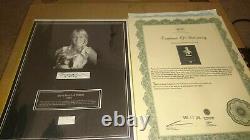 Abba Agnetha Faltskog Hairlock W Photo Autograph Certifié Signé Coa Authentic
