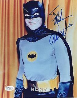 Adam West Authentique Signée 8x10 Photo Batman Jsa Coa Signe De Mike