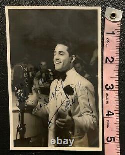 Al Bowlly Signé Photographie Carte Postale Authentic Extremely Rare