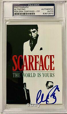 Al Pacino Authentic Signé 3.5x5 Scarface Photo Psa Dna Itp Autograph Slabbed