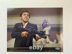 Al Pacino Autographié 11x14 Photo Scarface Beckett Témoin Beckett Authentique