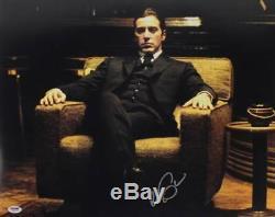 Al Pacino Le Parrain Signé Authentique 16x20 Photo Psa / Adn Pti # 5a80072
