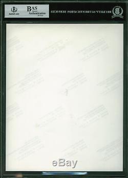 Alec Guinness Et David Prowse Star Wars Authentique Signé 8x10 Photo Bas Slabbed