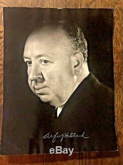 Alfred Hitchcock Original Signé B & W Photo Jsa Coa Authentique 11x14 Psycho