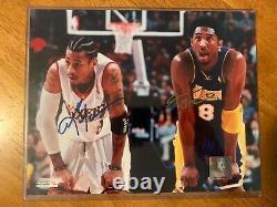 Allen Iverson & Kobe Bryant Signed Photo (8x10) Avec Certificat D'authenticité