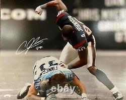 André Johnson Signé Autographié 16x20 Photo Jsa Authentic Houston Fight