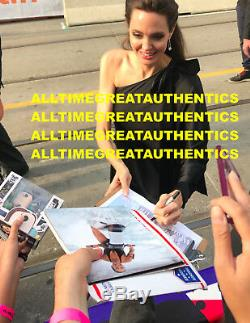 Angelina Jolie Sexy Actrice Signée Authentique Photo 8x10 Preuve Beckett Coa Bas