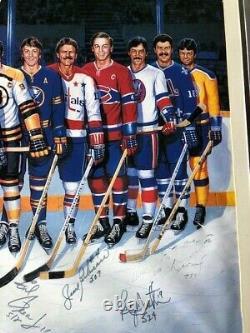 Authentic 500 Goal Scorers Poster Signé Par 17 Et Ron Lewis Howe Hull