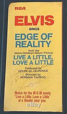Authentique Autographed Elvis Presley Edge 1960 De La Réalité Assemblage