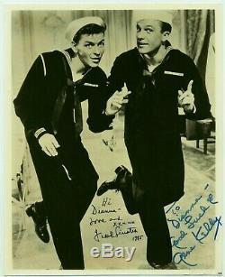 Authentique Frank Sinatra Et Gene Kelly Photo Autographiée De 1945 Moussaillon
