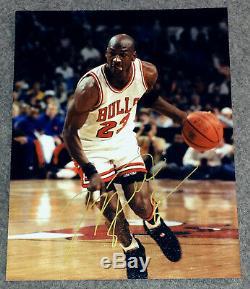 Authentique Michael Jordan Autographed Bulls 8x10 Photo Couleur Des Début Des Années 1990