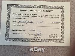 Authentique Michael Jordan Signé Autograph 8x10x4 New Matted Photo Encadrée Avec Coa +