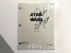 Authentique Star Wars Episode IV Script Signé Par Carrie Fisher Mint