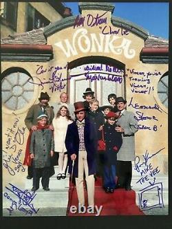 Authentique Willy Wonka Cast Signé 11x14 Photo Pas Psa Beckett Autograph + Coa