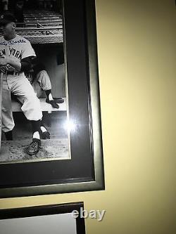 Autographié 16x20 Joe Dimaggio/mickey Mantle Guaranteed Authentic Jsa/psa Framed