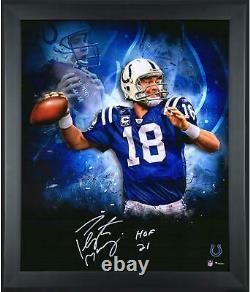 Autographié Peyton Manning Colts 20x24 Photo Fanatique Authentique Aco