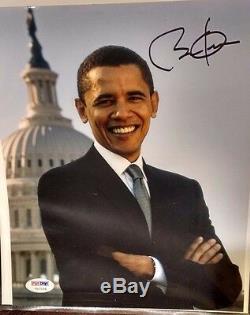 Barack Obama A Signé 8x10 Photo 2007 Psa / Adn Signature Authentique Rare Sénat Item