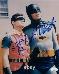 Batman Adam West Et Burt Ward Signé 8x10 Glossy Photo Jsa Authentifié (dmg)