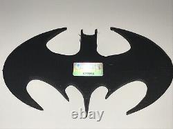 Batman Forever Val Kilmer Signé Prop Batarang Arme Rare Authentique + Photo Coa