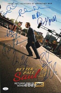 Better Call Saul Cast(x8) Authentic Hand-signedbob Odenkirk11x17 Photo Jsa Coa