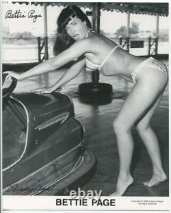 Bettie Page, Erotisme Photo. Signé Tirages Argentiques Avec Certificat D'authenticité