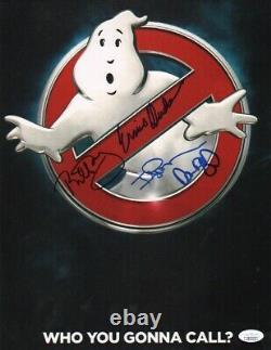 Bill Murray +3 Ghostbusters Authentiques À La Main 11x14 Photo (jsa Coa)