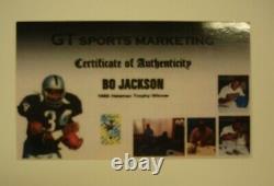 Bo Jackson Authentique Signé Encadré Photo Bo Knows Bat - Pads Joueur Holo Nike
