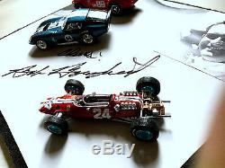 Bob Bondurant Zone D'ombre Shelby 12x9x3 Authentique Autographié Daytona Cobra Ferra