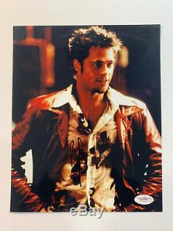 Brad Pitt Fight Club Signé 8x10 Photo Dédicacée Jsa Assermentée Téméraire Sig