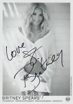 Britney Spears Photo Dédicacée Autographié Vintage Rca Records Authentique Autograph