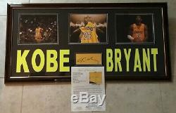 Bryant Signé Kobe Authentique Autographié Encadré 20x40 Nba Lakers Photo Jsa Coa