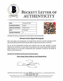 Bulls Michael Jordan Authentique Signé 16x20 Emmêlée Photo Bas # A78912