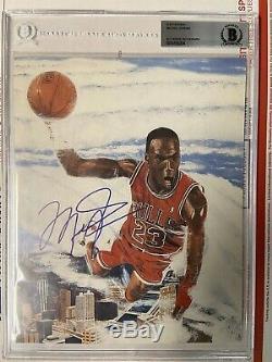Bulls Michael Jordan Authentique Signé Photo Dédicacée Bas