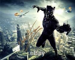 Chadwick Boseman (black Panther) Autographié Signé 8x10 Photo Authentique Coa