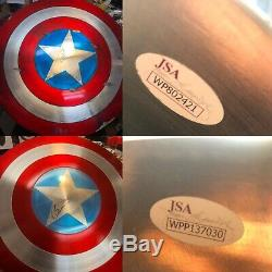 Chris Evans Signé Le 24 Bouclier Captain America Autograph Jsa Authentifié