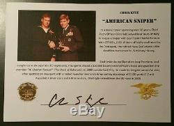 Chris Kyle Américain Sniper Photo Dédicacée Auto Jsa Authentique Autograph La Légende