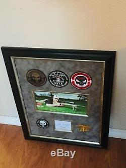 Chris Kyle Authentic Original Signé Autograph Framed Navy Seal Sniper Photo Jsa