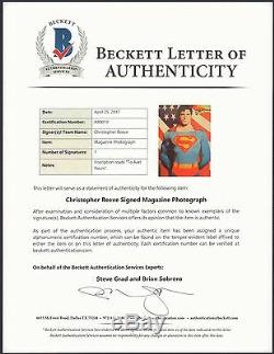 Christopher Reeve Superman Autograph (bas Beckett Assermentée) Signé