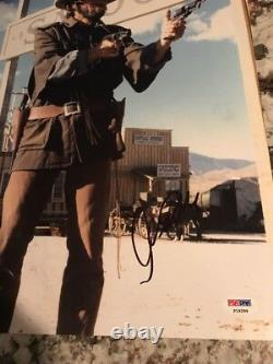 Clint Eastwood In-person 11x14 Signé Photo Coa Psa/adn Outlaw Western
