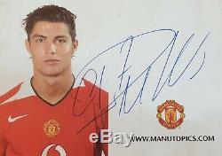 Cristiano Ronaldo Cr7 Authentique Autographe @ Lisbonne, Manchester United