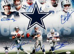 Dallas Cowboys Sb Mvp Multi-signé 16x20 Photo- Jsa Assermentée