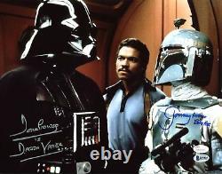David Prowse & Jeremy Bulloch Star Wars Authentic Signé 11x14 Photo Bas